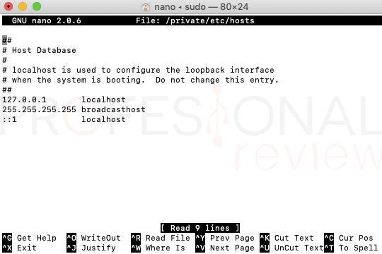 configurar el fichero hosts paso05