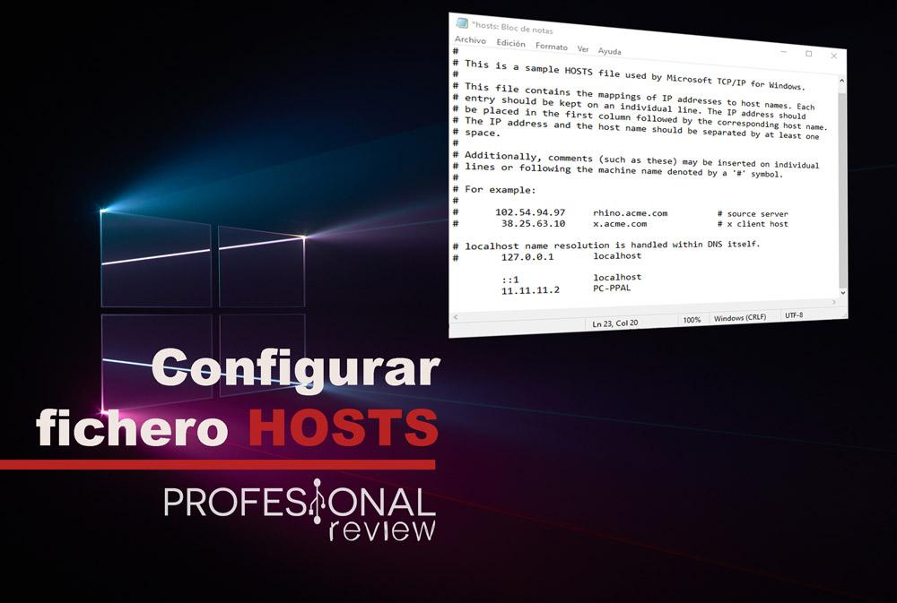 configurar el fichero hosts