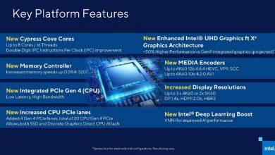 Photo of Intel da detalles oficiales sobre Rocket Lake-S: hasta 8 núcleos Cypress Cove a 14nm en la 11ª generación de Intel Core