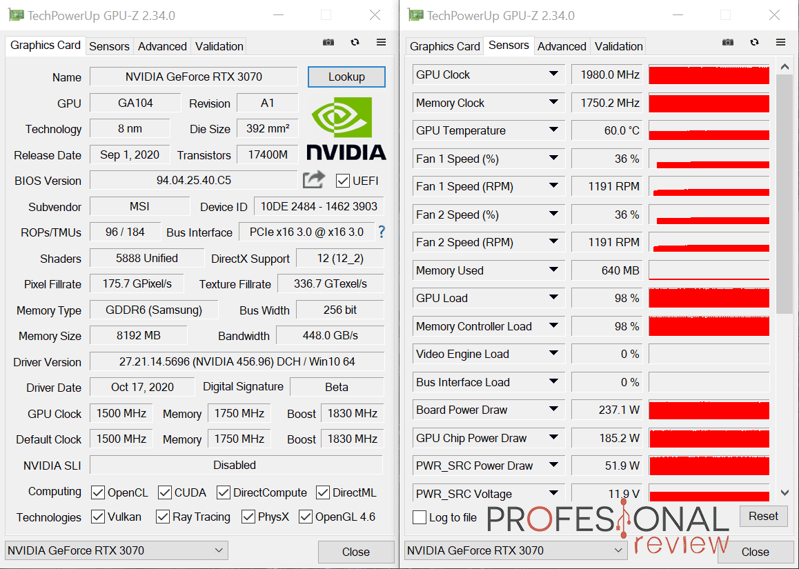 MSI RTX 3070 Gaming X Trio Review