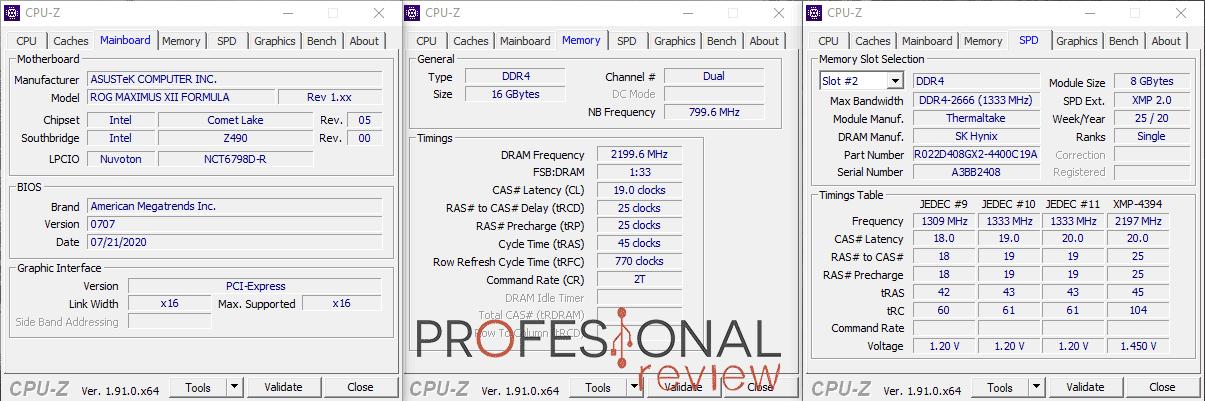 Thermaltake Toughram RGB 4400 CPU-Z