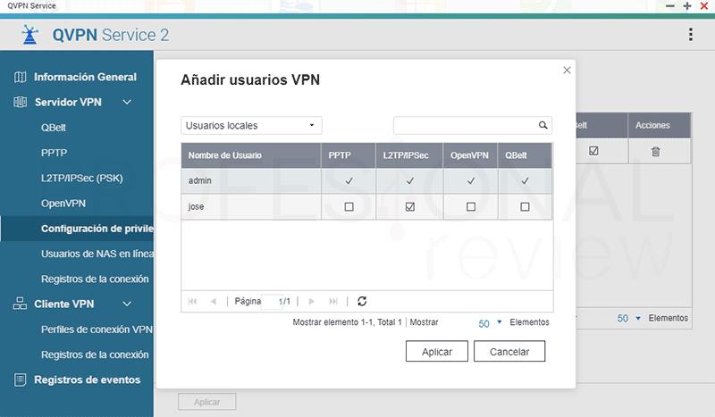 VPN con NAS QNAP paso14