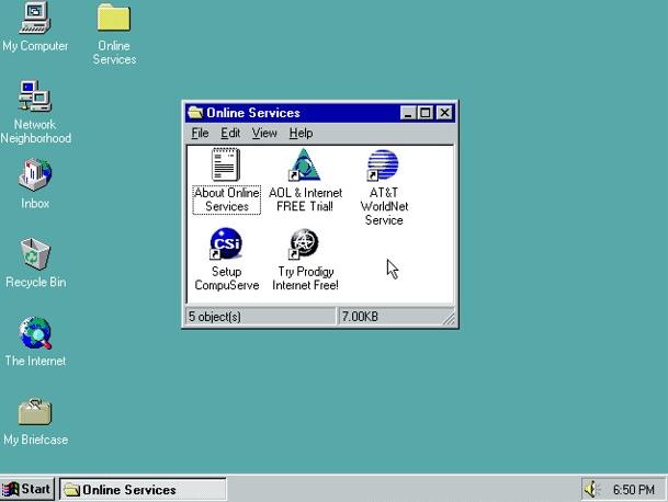 Windows 95 GUI