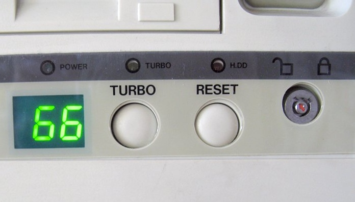 botón turbo