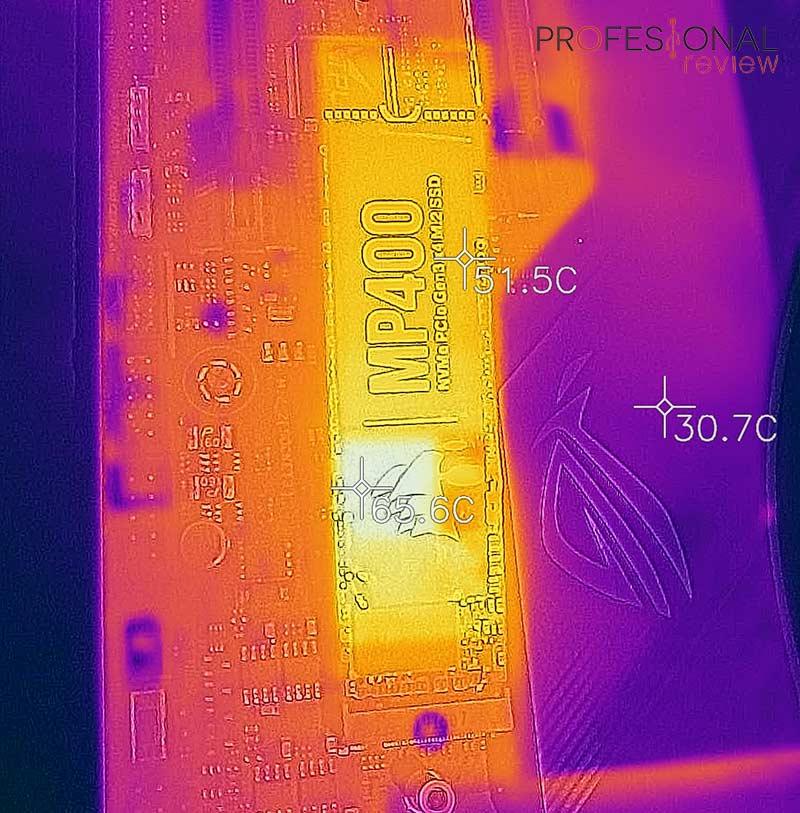 Corsair MP400 4 TB Temperaturas