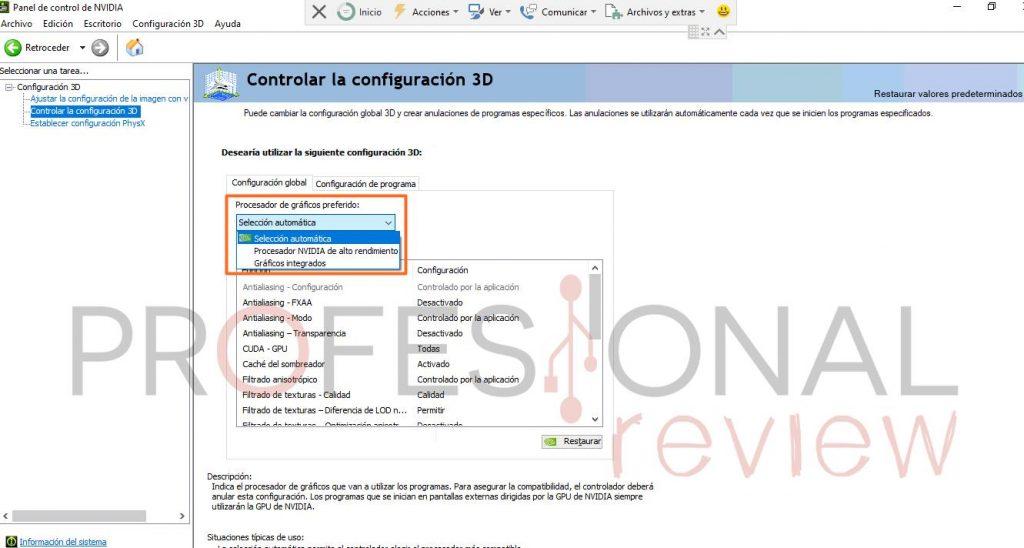 igpu NVIDIA configuración