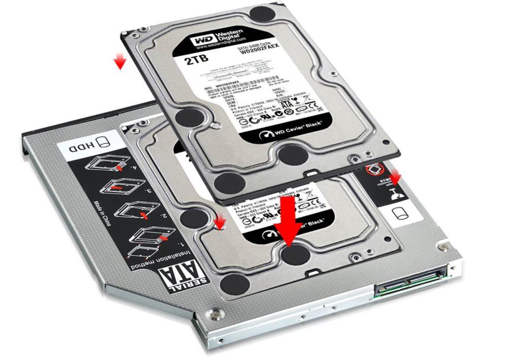adaptador cd-rom hdd en portátil