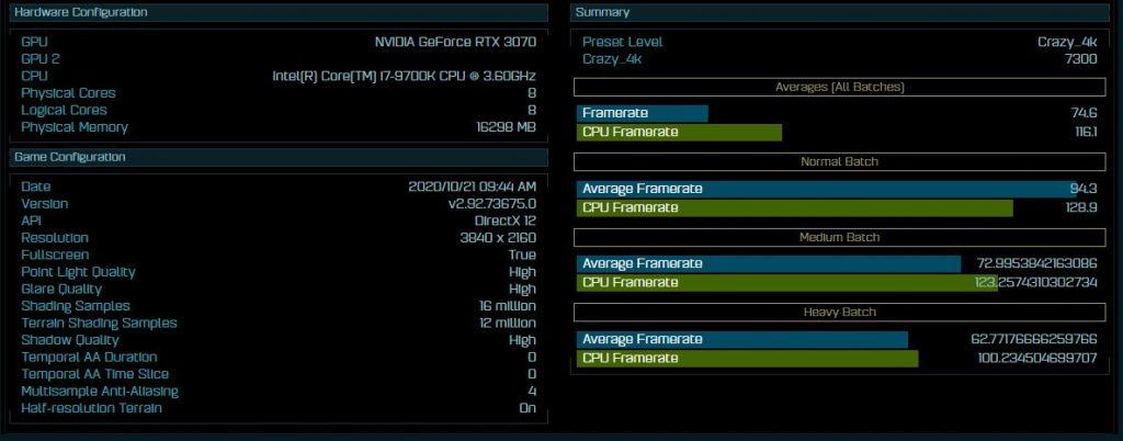 rtx 3070 benchmark 4K