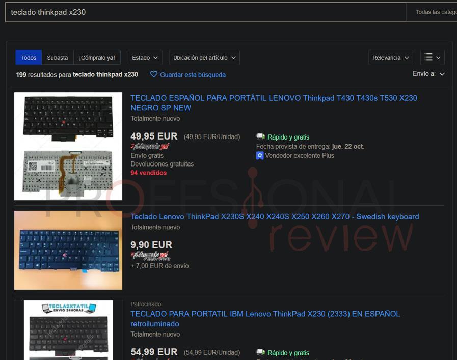 teclado thinkpad x230