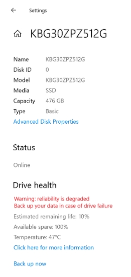 windows actualización SSD