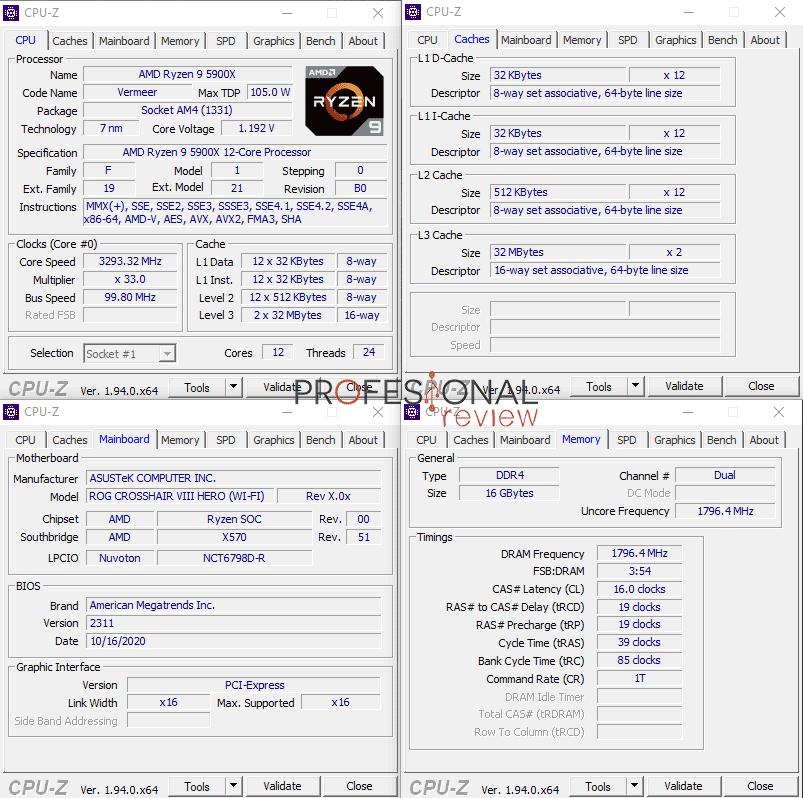 AMD Ryzen 9 5900X CPU-Z