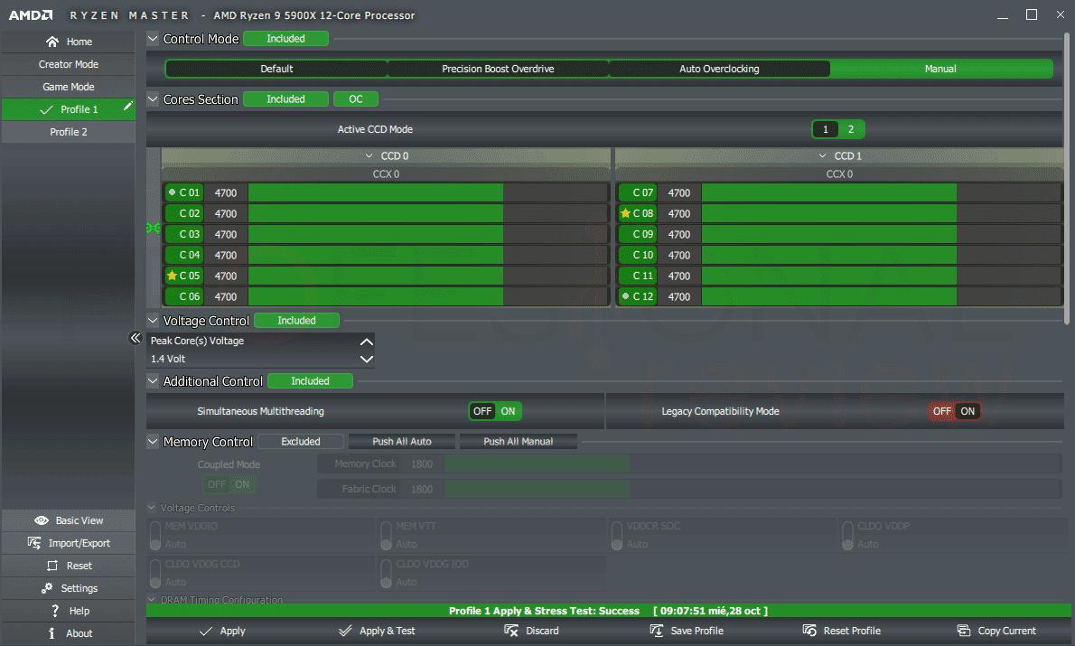 AMD Ryzen 9 5900X OC