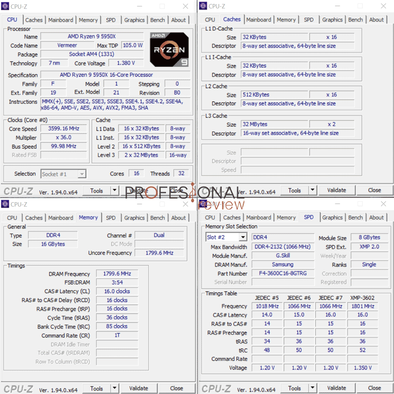 AMD Ryzen 9 5950X CPU-Z