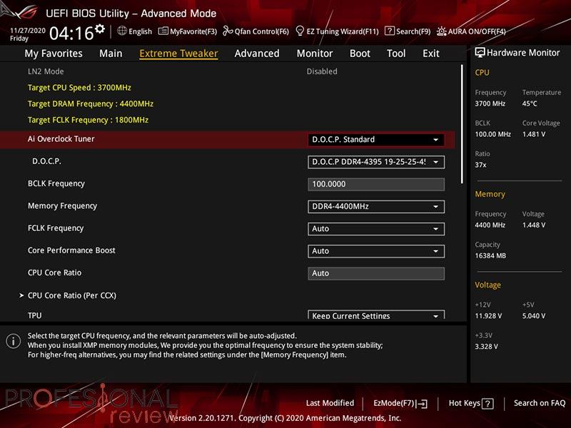 Asus ROG Crosshair VIII Dark Hero BIOS