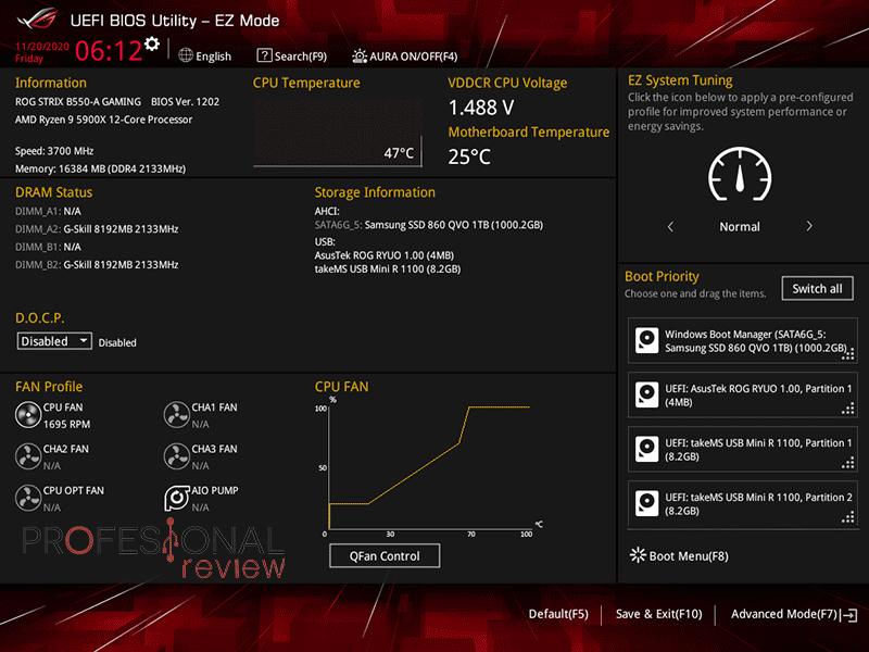 Asus ROG Strix B550-A Gaming BIOS