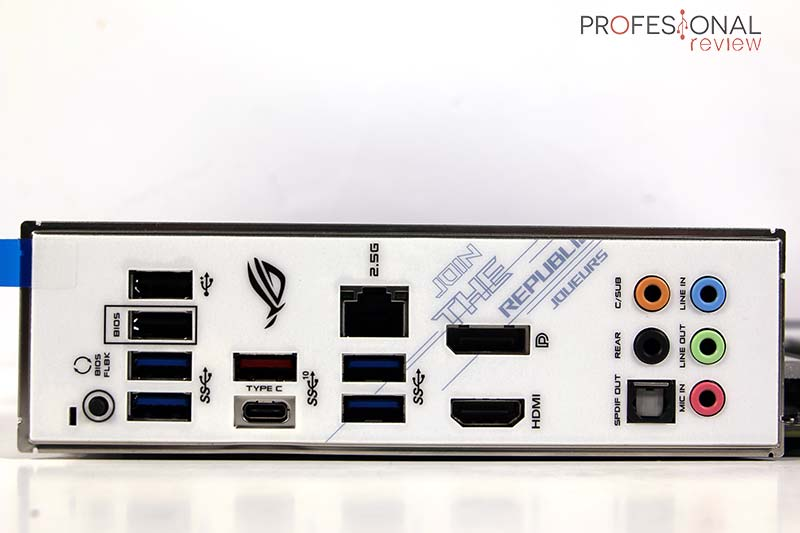 Asus ROG Strix B550-A Gaming Puertos