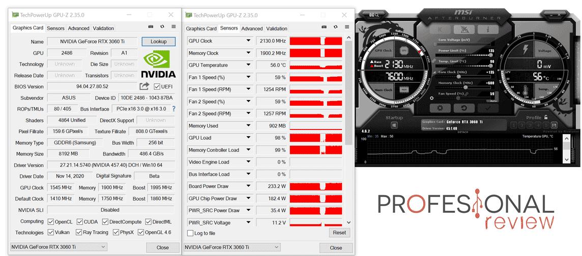 Asus ROG Strix RTX 3060 Ti O8G Gaming Overclocking
