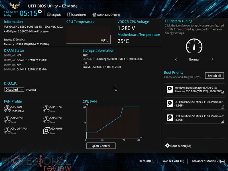 Asus TUF Gaming B550 Plus Wi-Fi BIOS