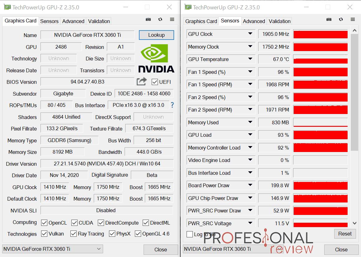 Gigabyte RTX 3060 Ti EAGLE 8G GPU-Z