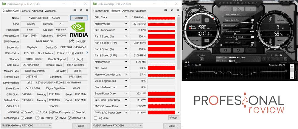 Gigabyte RTX 3090 Gaming OC 24G Overclocking