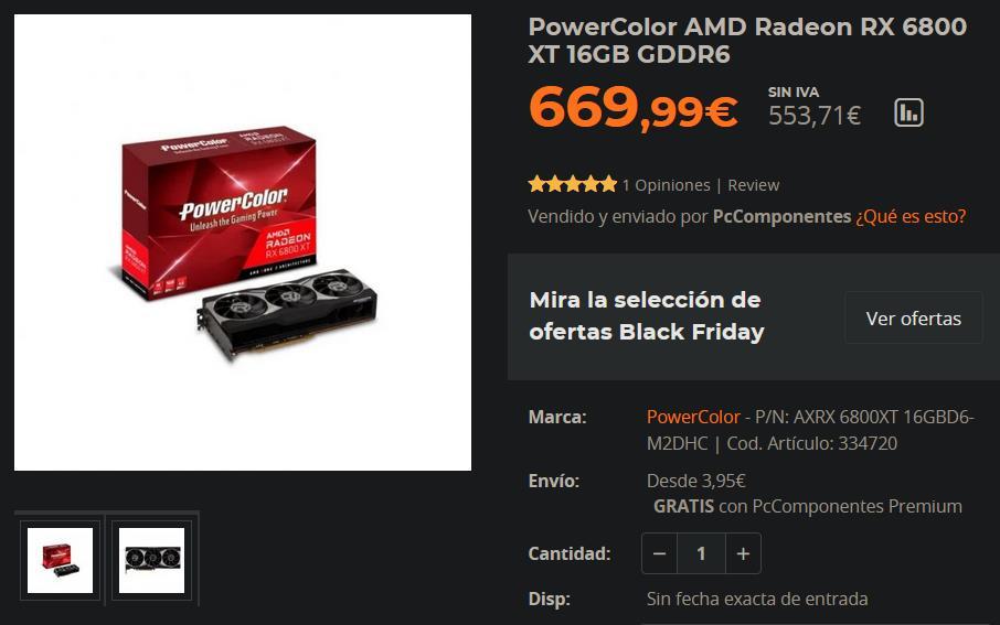 Precio RX 6800 XT
