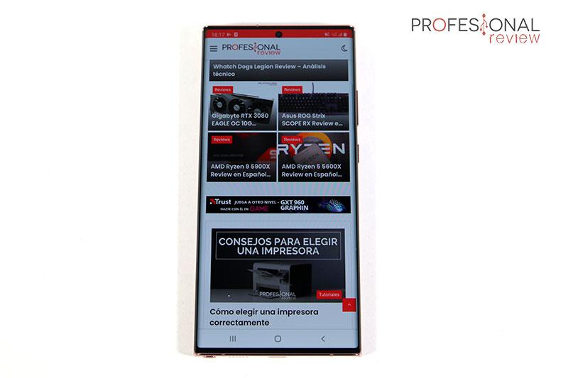 Samsung NOTE 20 Ultra 5G Pantalla