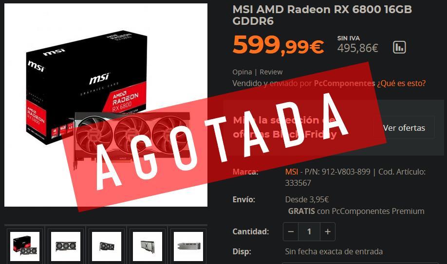 RX 6800 Precio