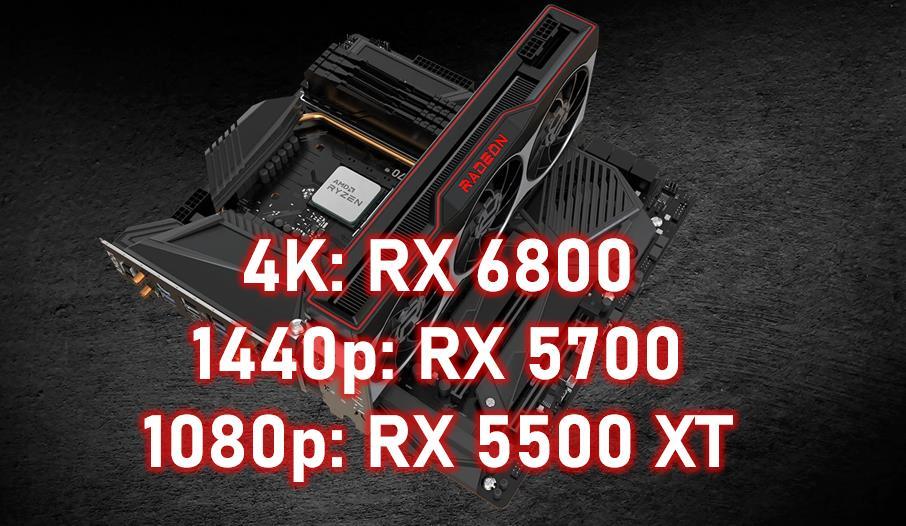 Recomendaciones gráficas AMD RX 6800 4K