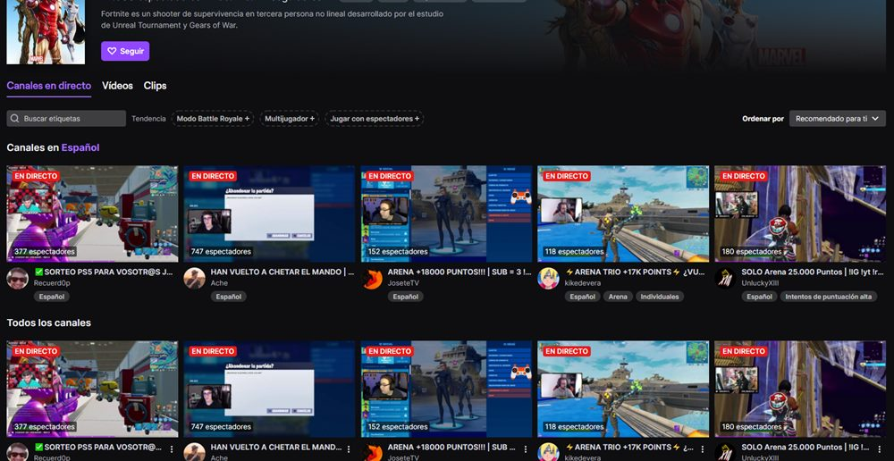 streaming twitch youtube
