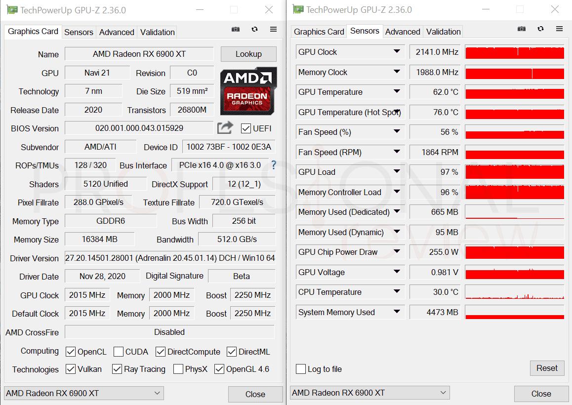 AMD Radeon RX 6900 XT GPU-Z
