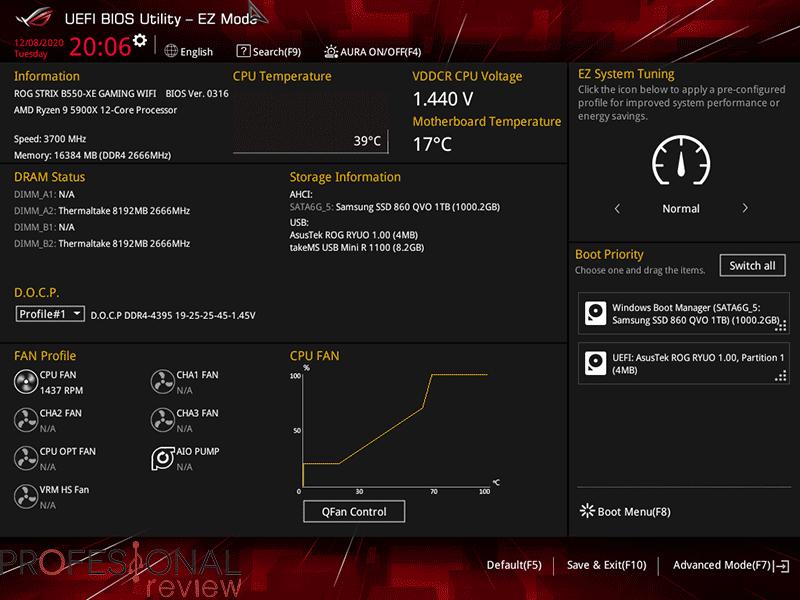Asus ROG Strix B550-XE Gaming Wi-Fi BIOS