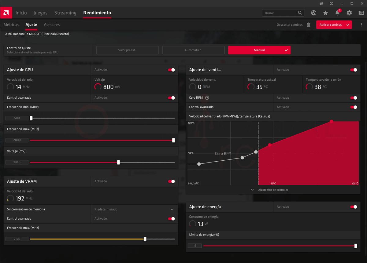 Asus ROG Strix LC RX 6800 XT O16G Gaming Overclocking