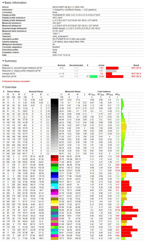 MSI Optix MAG274QRF-QD DCI-P3