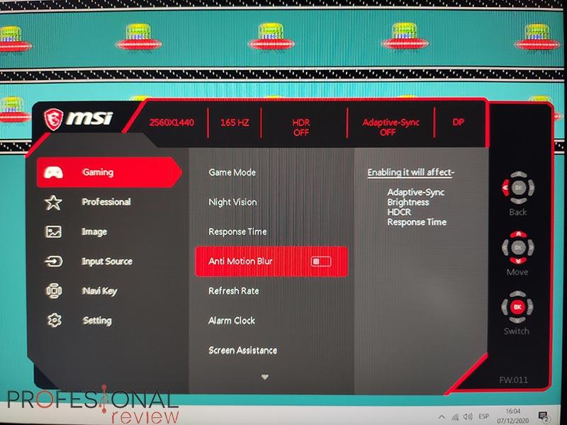 MSI Optix MAG274QRF-QD Ghosting