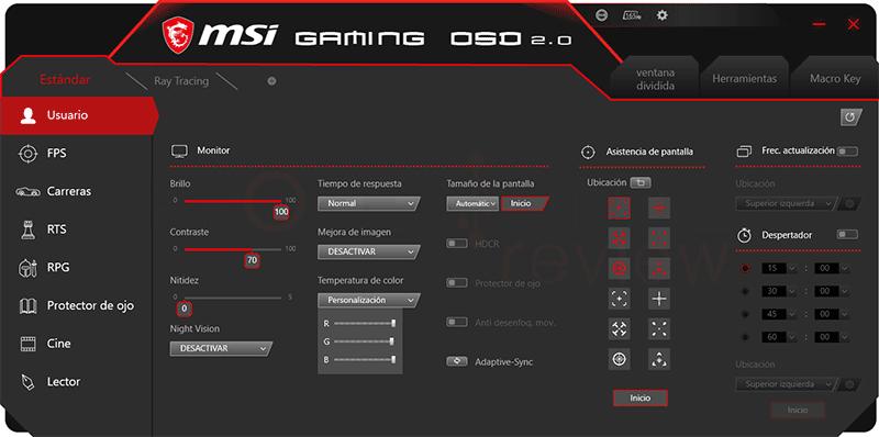 MSI Optix MAG274QRF-QD OSD