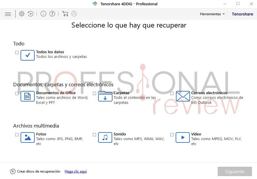 Tenorshare 4DDIG cómo recuperar archivos formateados PC