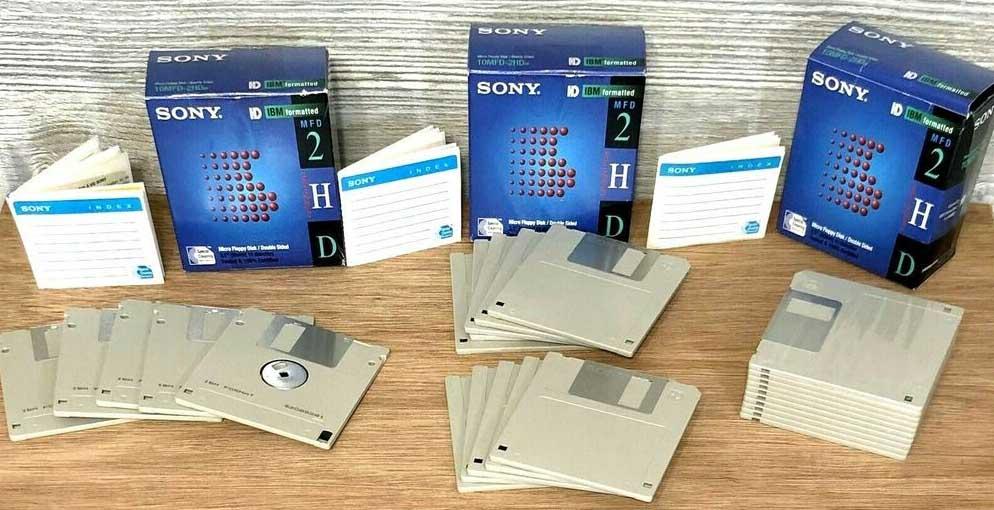 disquete 3.5 pulgadas sony
