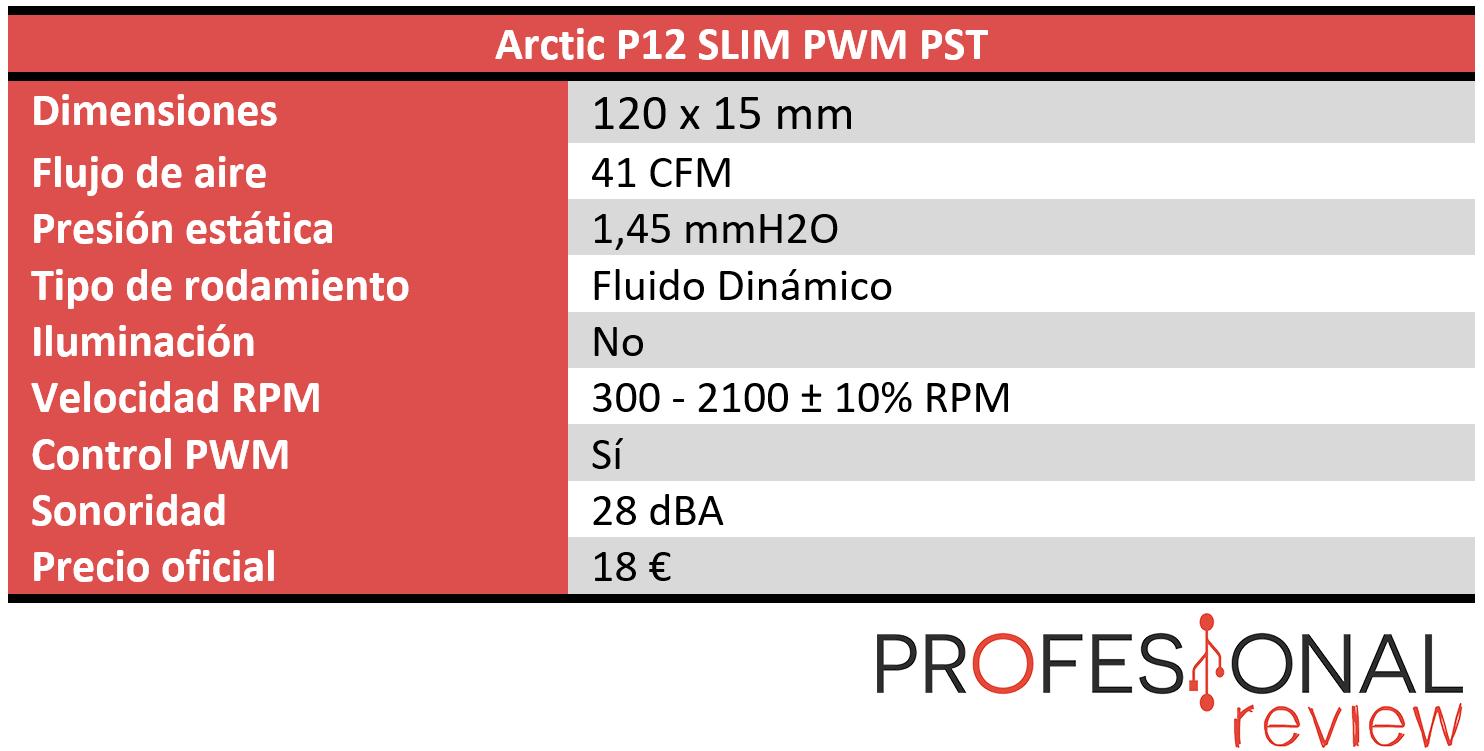 Arctic P12 SLIM PWM PST Características