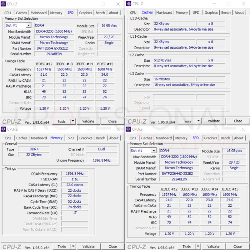 Asus ROG Strix SCAR 15 G533QS CPU-Z