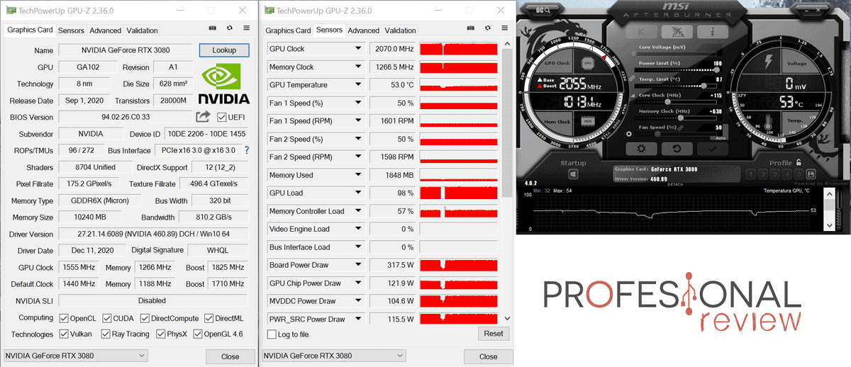 KFA2 GeForce RTX 3080 SG Overclocking
