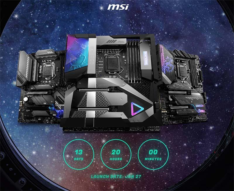 MSI Z590 lanzamiento