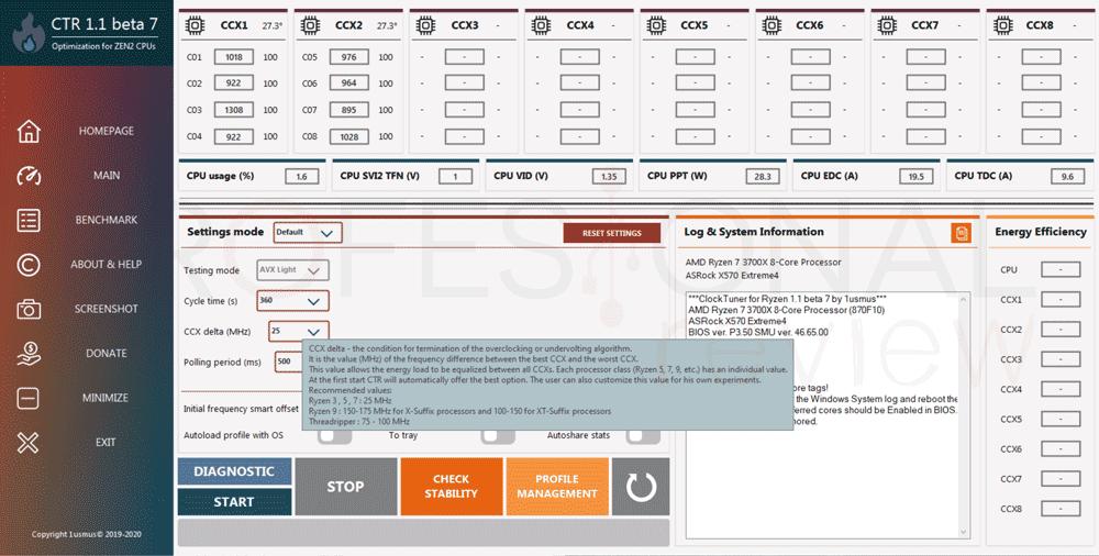 undervolting a AMD Ryzen 3000 paso05