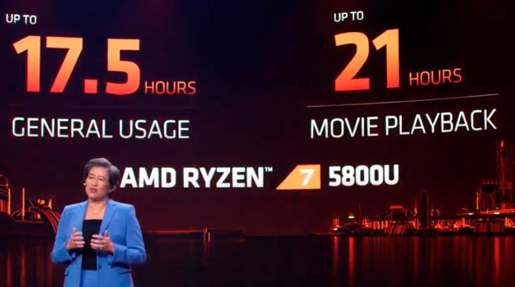 AMD Ryzen 7 5800U bateria