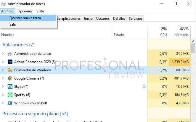 botón inicio windows 10