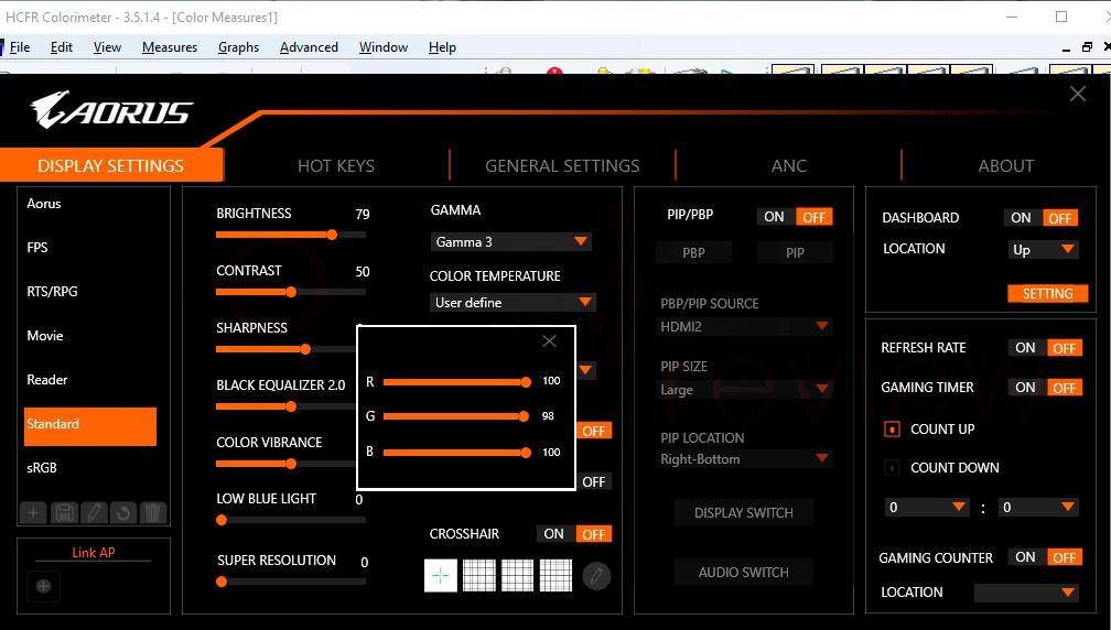 AORUS FI27Q-X Calibración