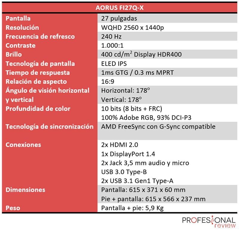 AORUS FI27Q-X Características
