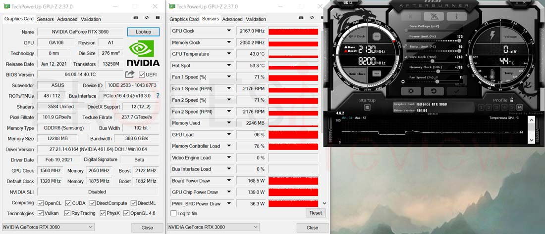 Asus ROG Strix RTX 3060 Gaming OC Overclocking