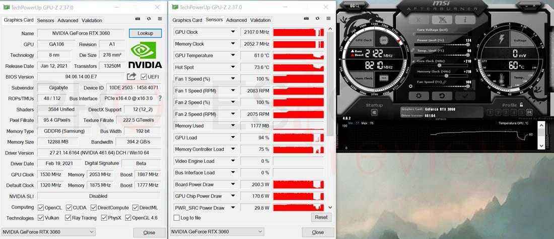 Gigabyte RTX 3060 EAGLE 12G Overclocking