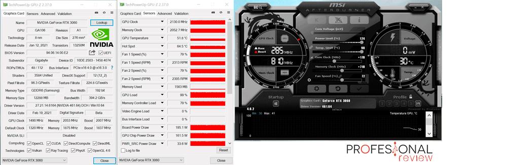 Gigabyte RTX 3060 Gaming OC 12G Overclocking