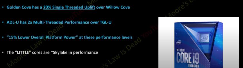 Intel alder lake-s rendimiento